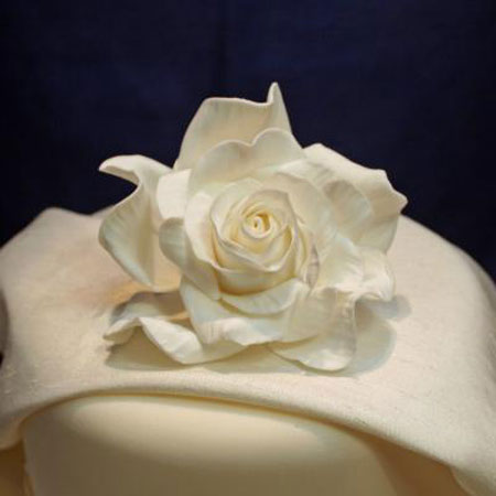 Giant Ivory Sugarcraft Rose
