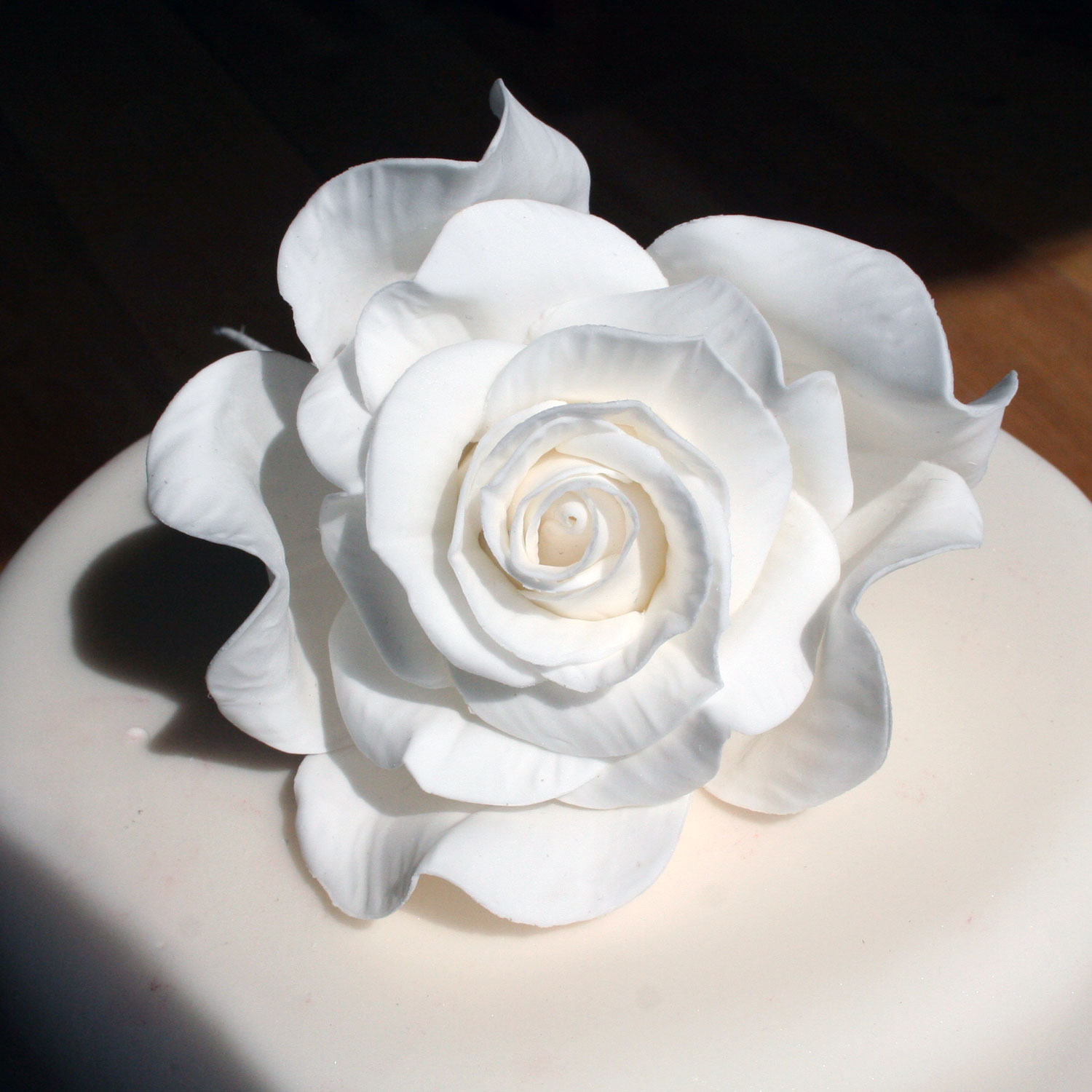 Hand-made Giant White Sugar Rose