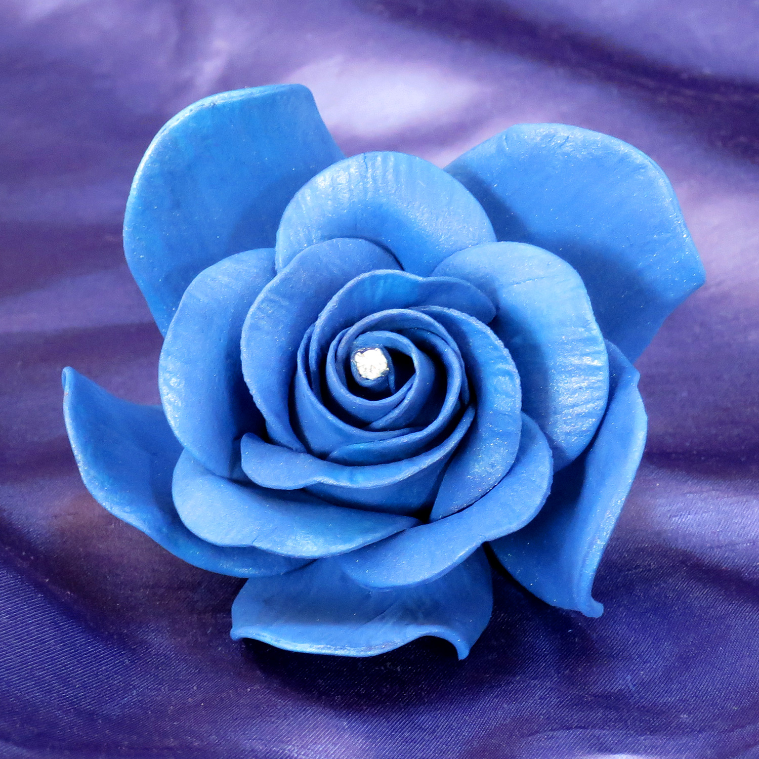 Gianr Royal Blue Diamante Sugar Rose