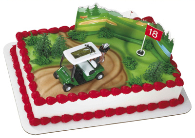 Golf Buggy Cake Decorating Set
