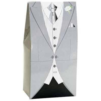 Grey Morning Suit Wedding Favours