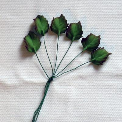 Small Tinted Sugar Rose Leaves