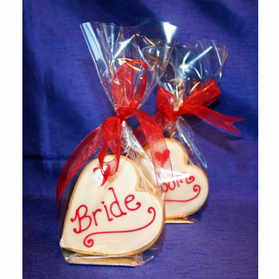 Heart Shaped Wedding Cookies