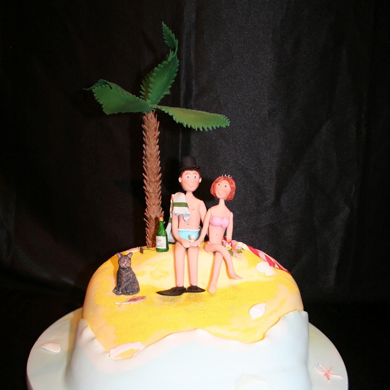 Wedding Cake Suitcase Honerymoon Island