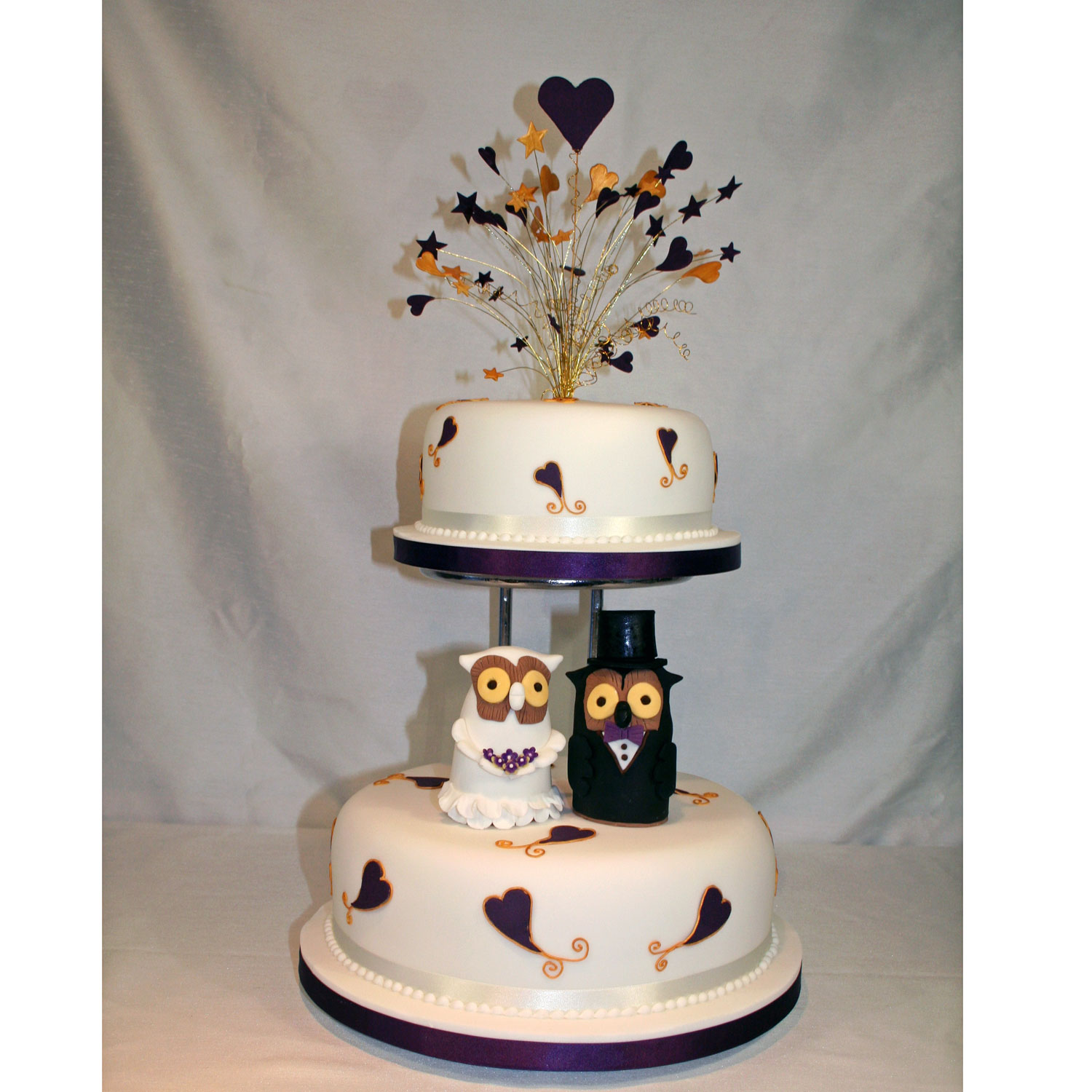 Owl themed Wedding Cake