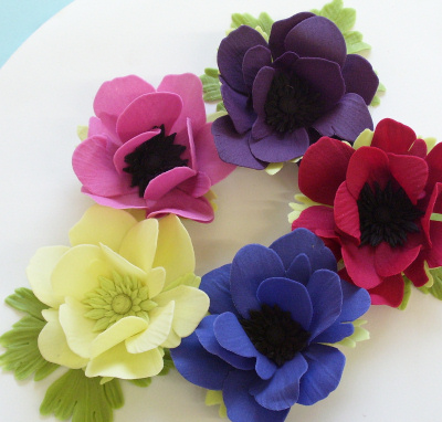 Sugarcraft Anemones made use Jem cutters