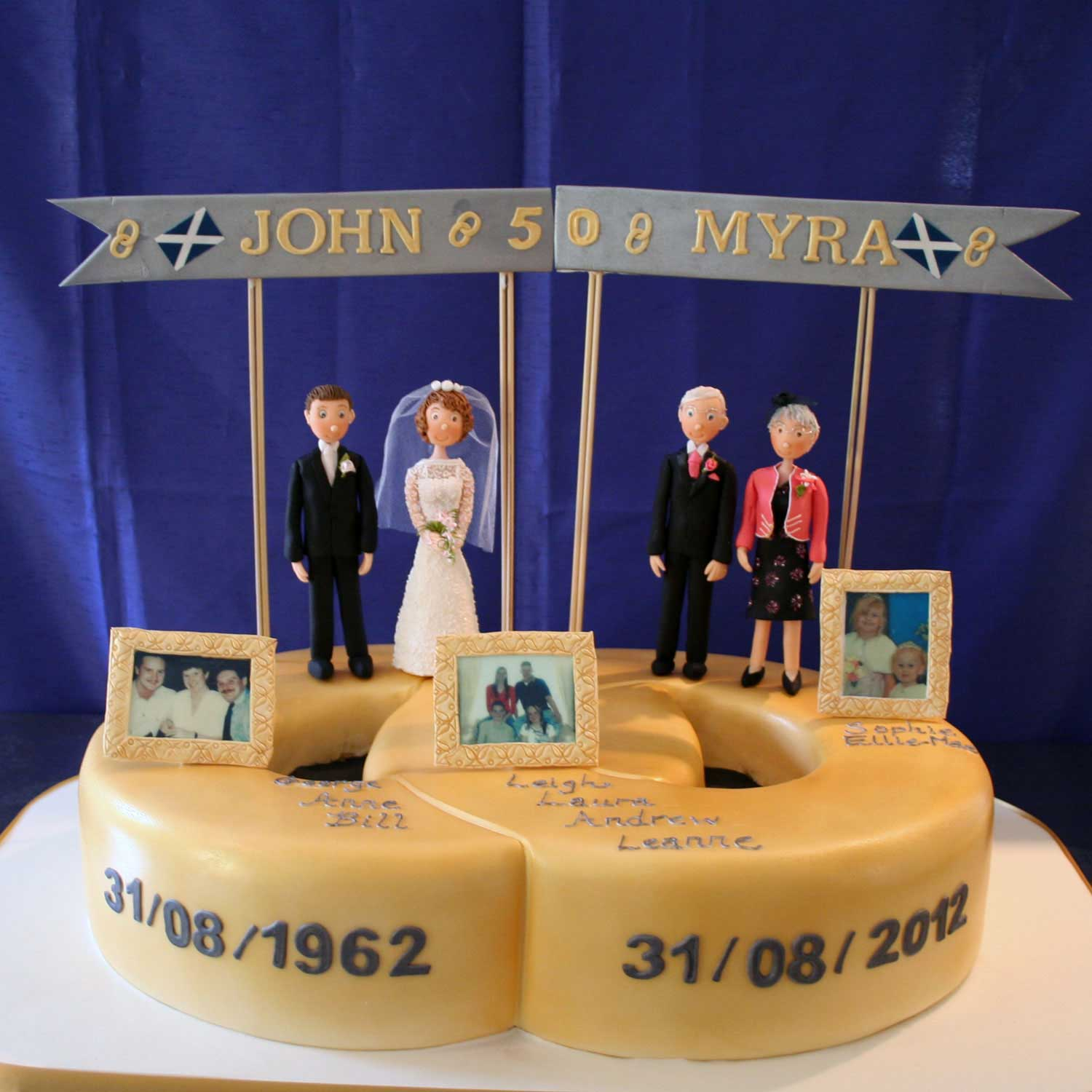 Golden Wedding Anniversary Cake Golden Wedding Anniversary Cake