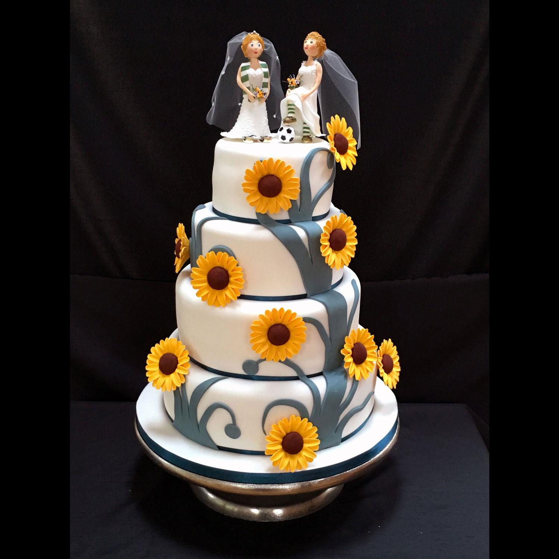 Soccer Themed Wedding Ideas: Celtic Reveal Football Wedding Cake Celtic Football