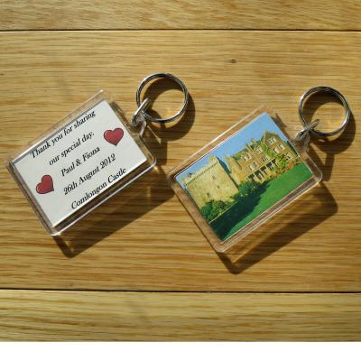 Personalised Wedding Keyrings