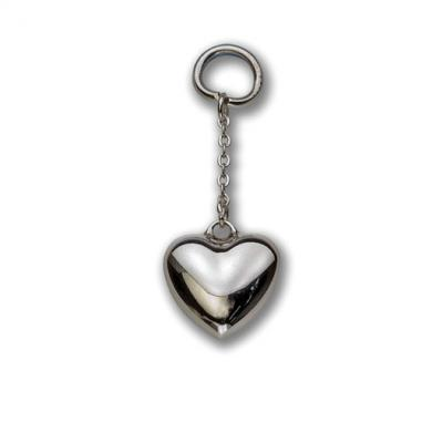 Silver Heart on a Chain Keyring