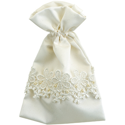 Lace Ivory Favour Pouches