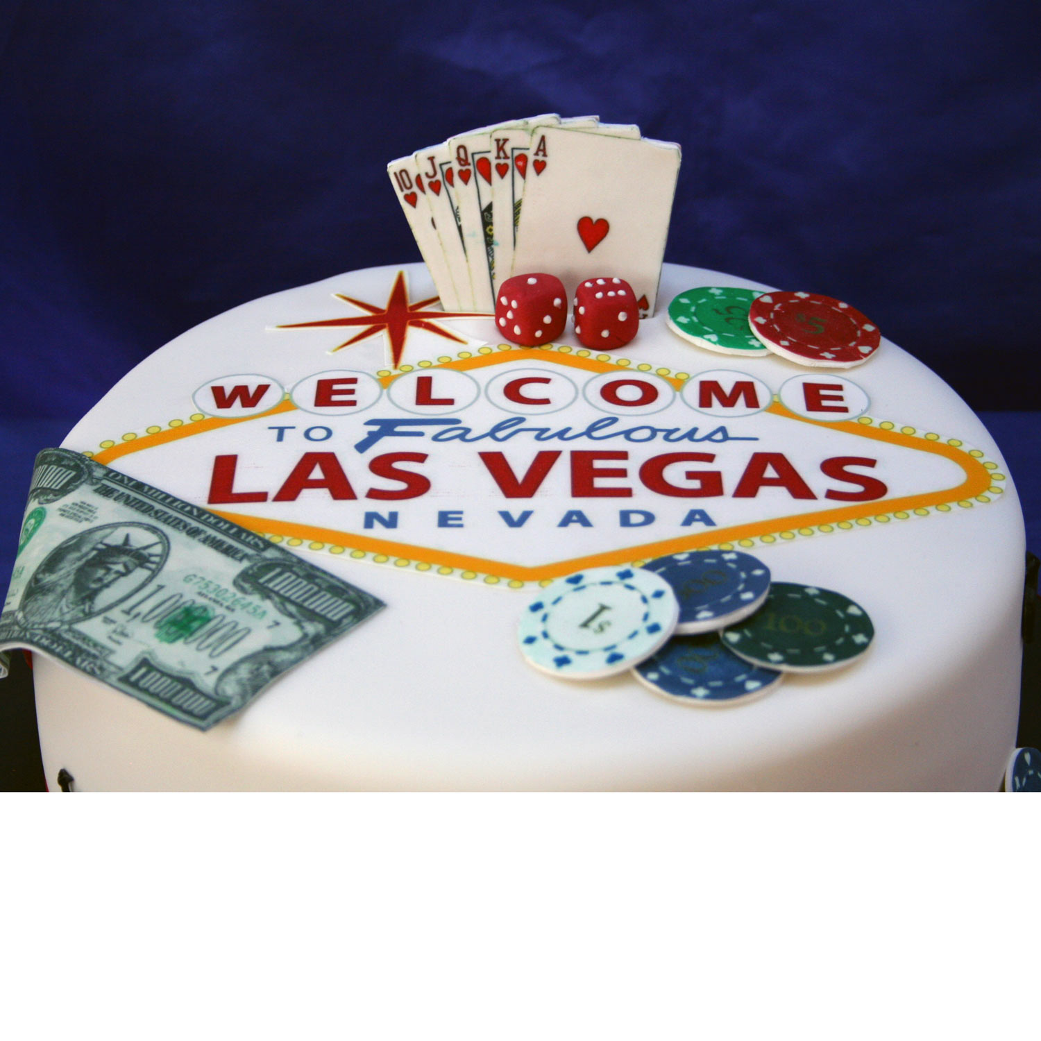 Welcome To Las Vegas Birthday Cake