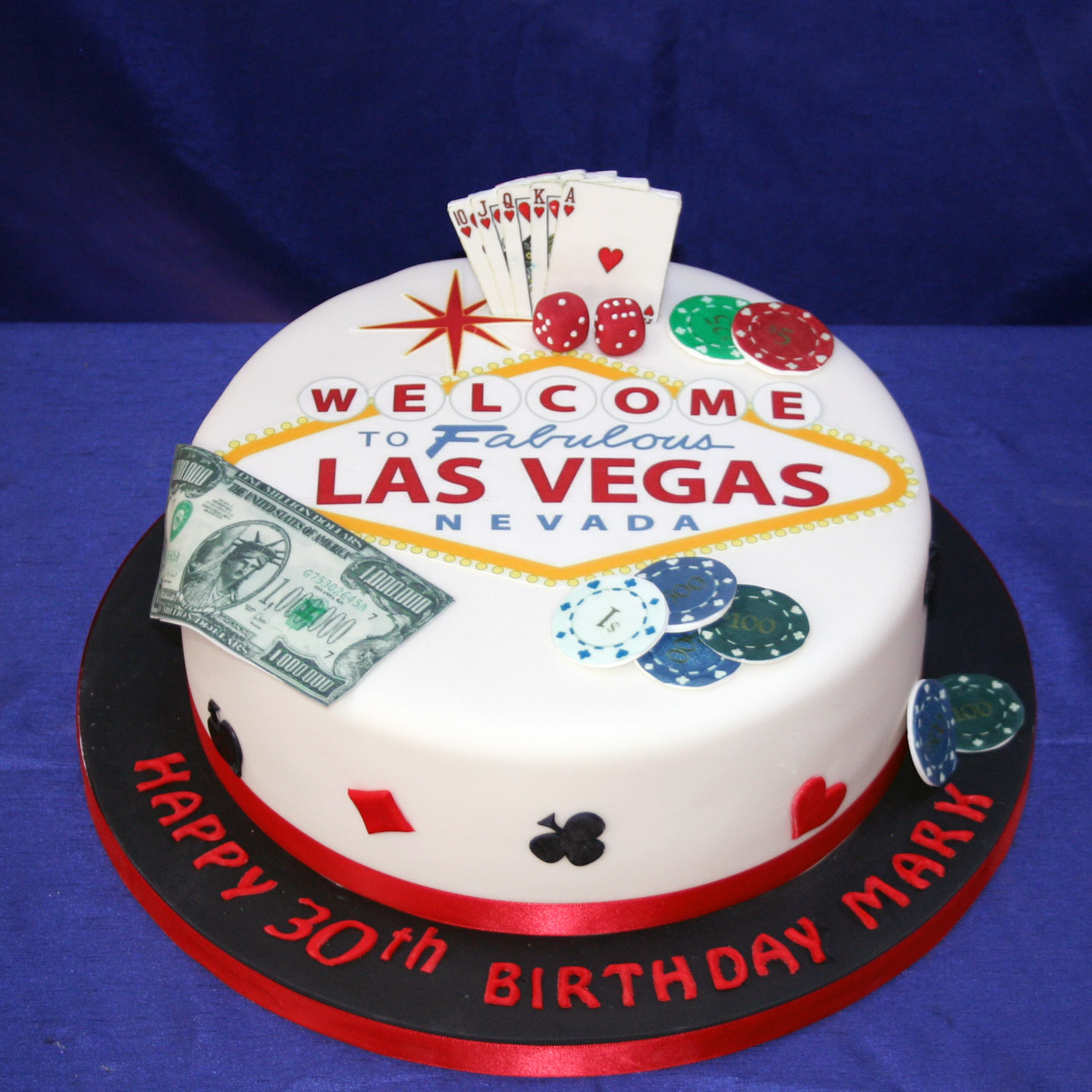 Charming Las Vegas Themed Birthday Cake Design Ideas