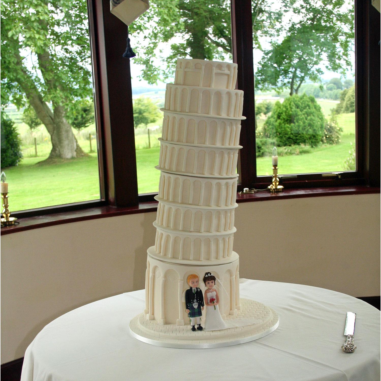 Miraculous Leaning Tower Of Pisa Lean Tower Of Pisa Wedding Cake Personalised Birthday Cards Beptaeletsinfo