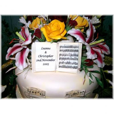Sugarcraft Music Book Cake Topper