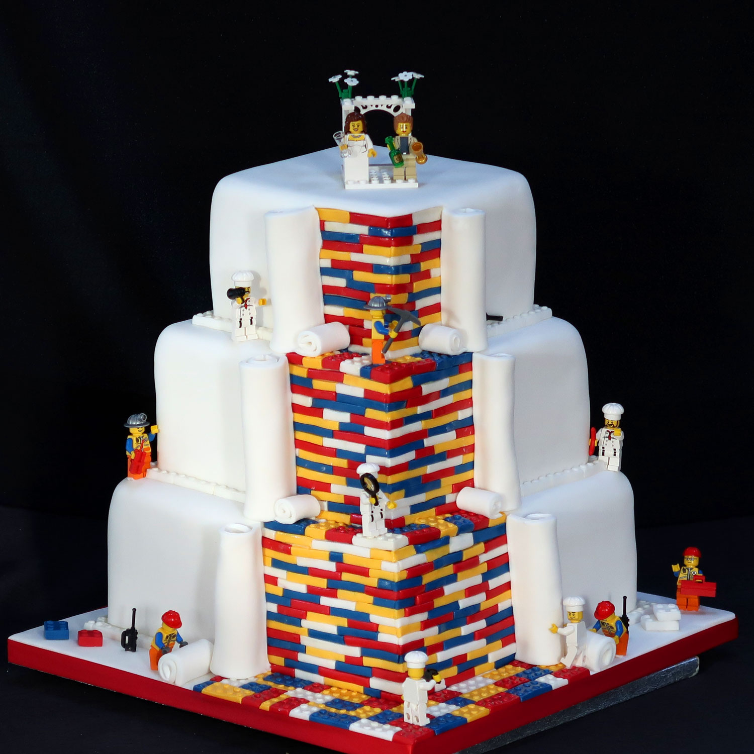 Lego wedding cake junglespirit