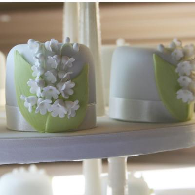 Mini Cakes Iced with Lily-of-the-Valley