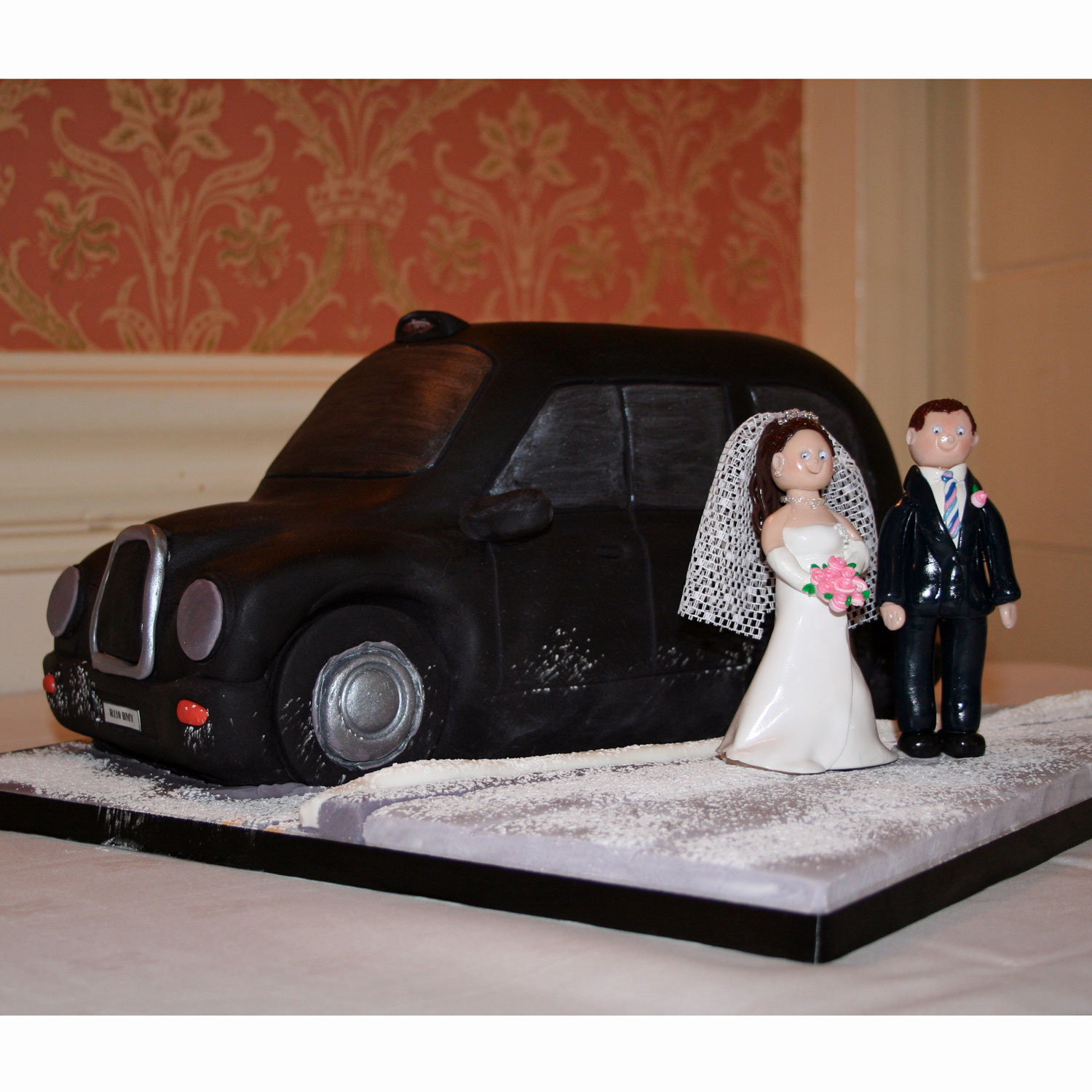Black Taxi Cab Wedding Cake