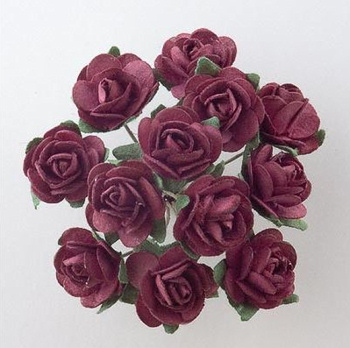 Burgundy Roses for Wedding Favours