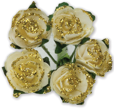 Gold Miniature Tea Roses