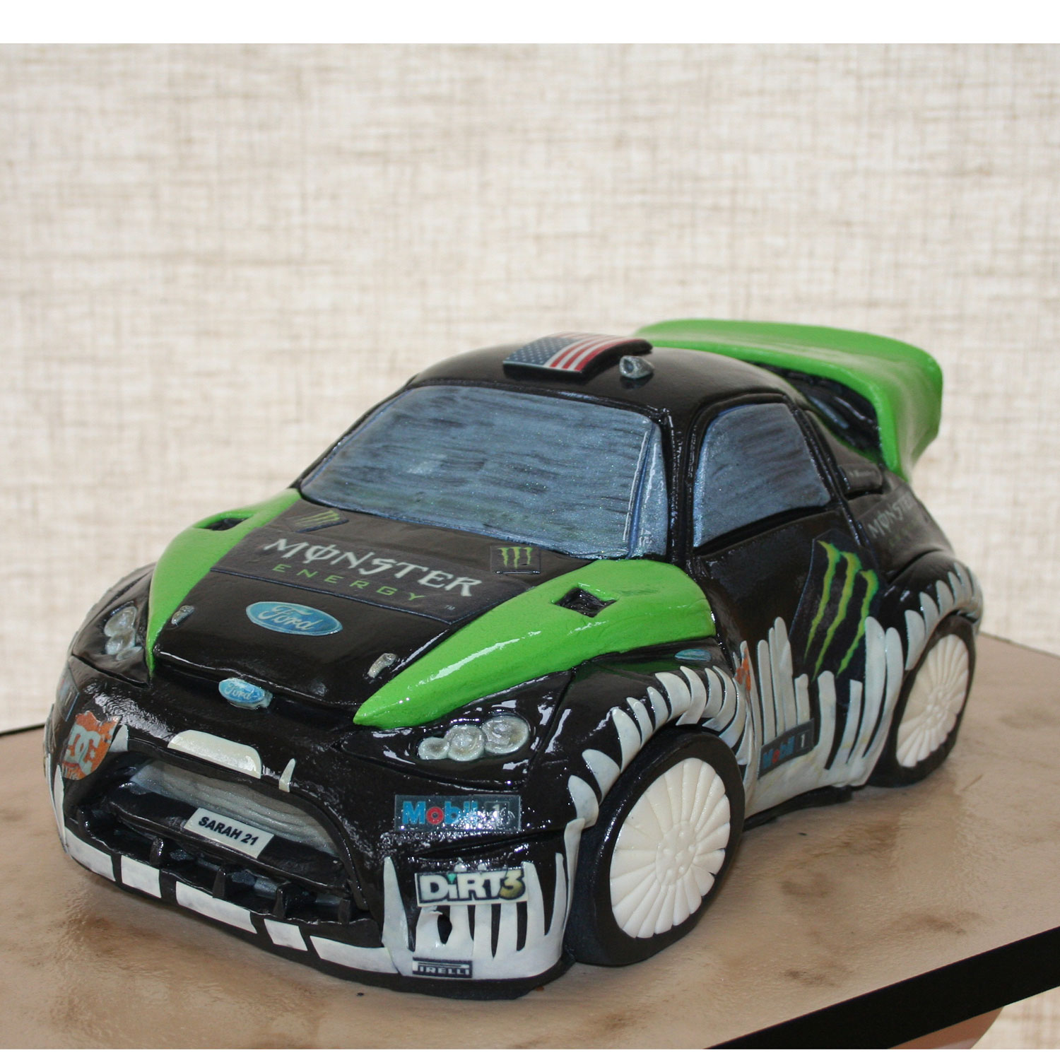 Rally Racing Car Birthday Cake