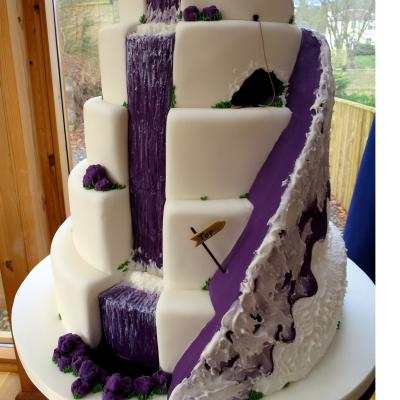 Mountain Wedding Cake Design