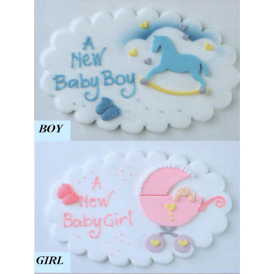 New Baby Sugar Plaques