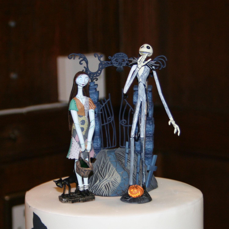 Christmas Wedding Cake Toppers.Nightmare Before Christmas