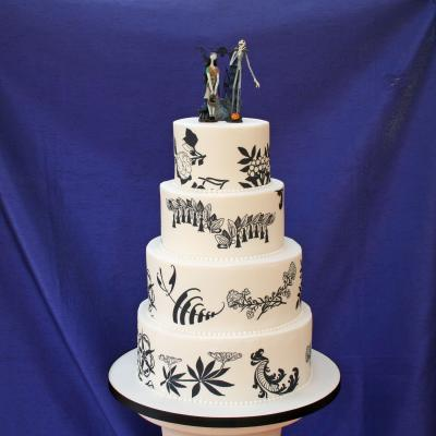 nightmare before christmas wedding cake - Nightmare Before Christmas Wedding Decorations