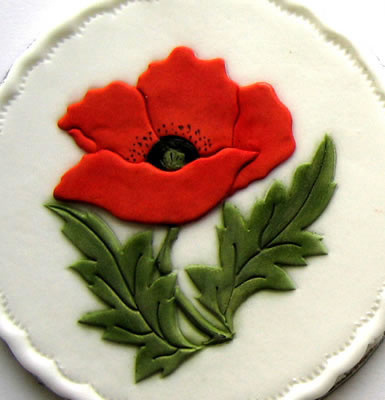 Poppy Rose Cake Design : Poppy Poppy Cutter for cake decorations