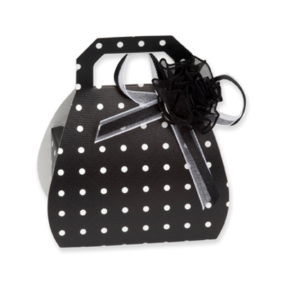 Black Polka Dot Wedding Favours