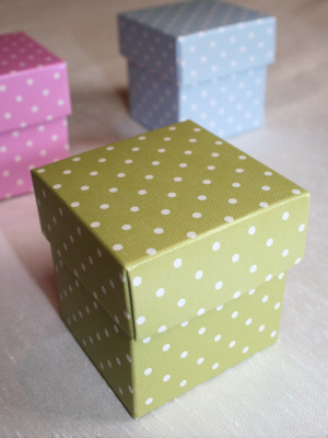 Polka Dot Boxes with Separate Lids