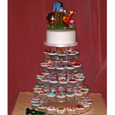 Pooh Wedding Cupcake Tower