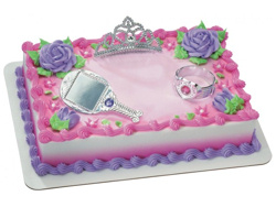 Cake Decorated with Princess Set