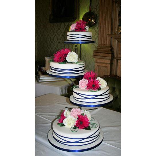 4 Tier Wedding Cake On Configurable Stand