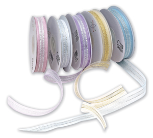 Centre Stripe Organza Ribbon