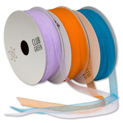Organza Woven Edge ribbon 10mm