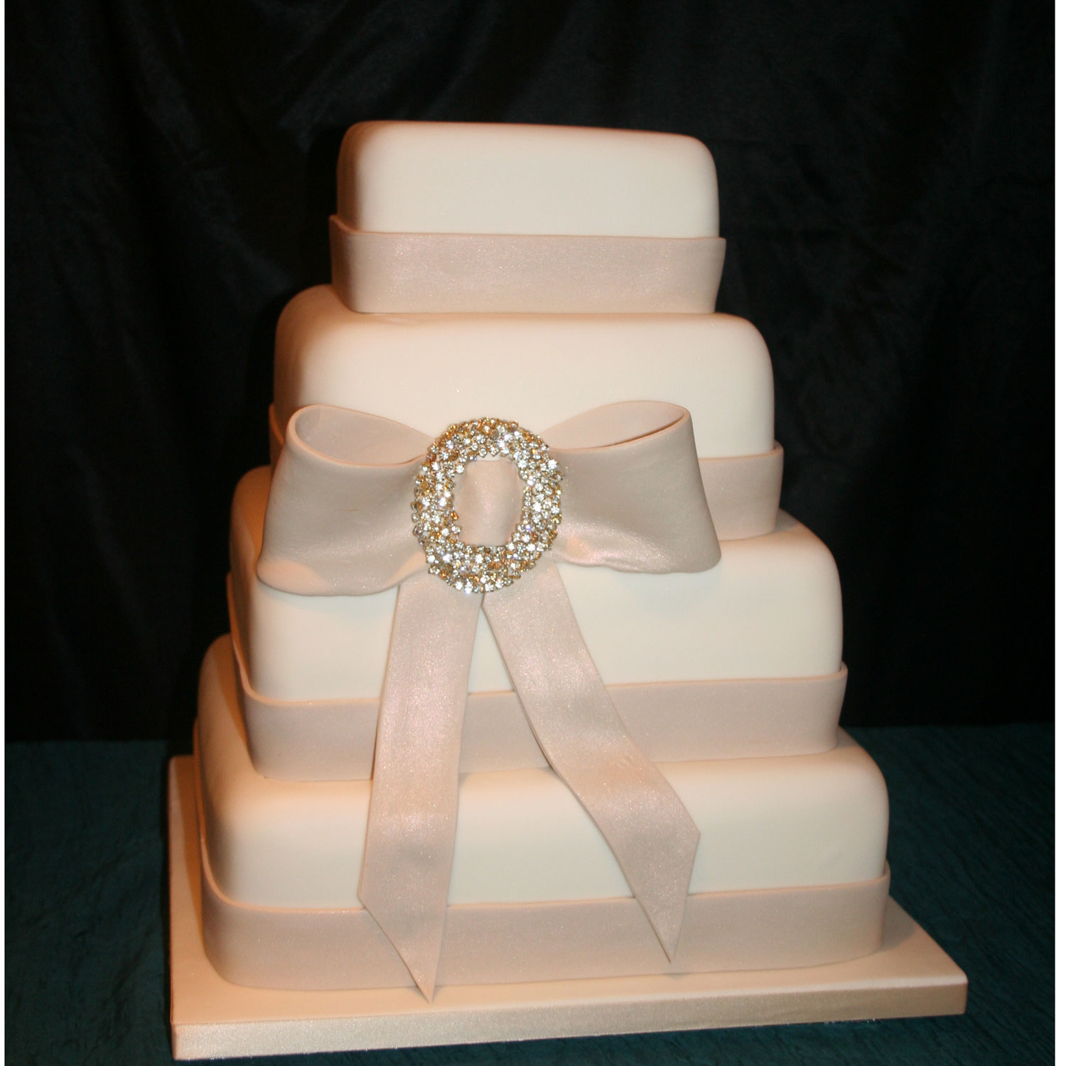 Satin Finish Wedding Cake