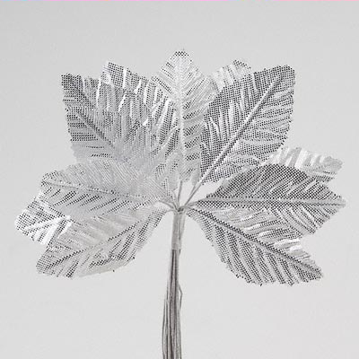 Silver Satin Leaves