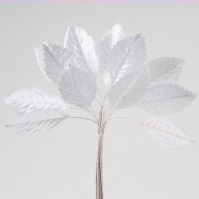 White Satin Leaves