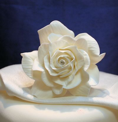 Giant Diamante Ivory Sugar Rose