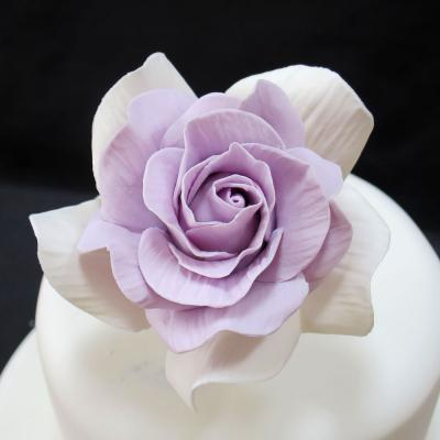 Handcrafted Lilac Heart Sugar Rose