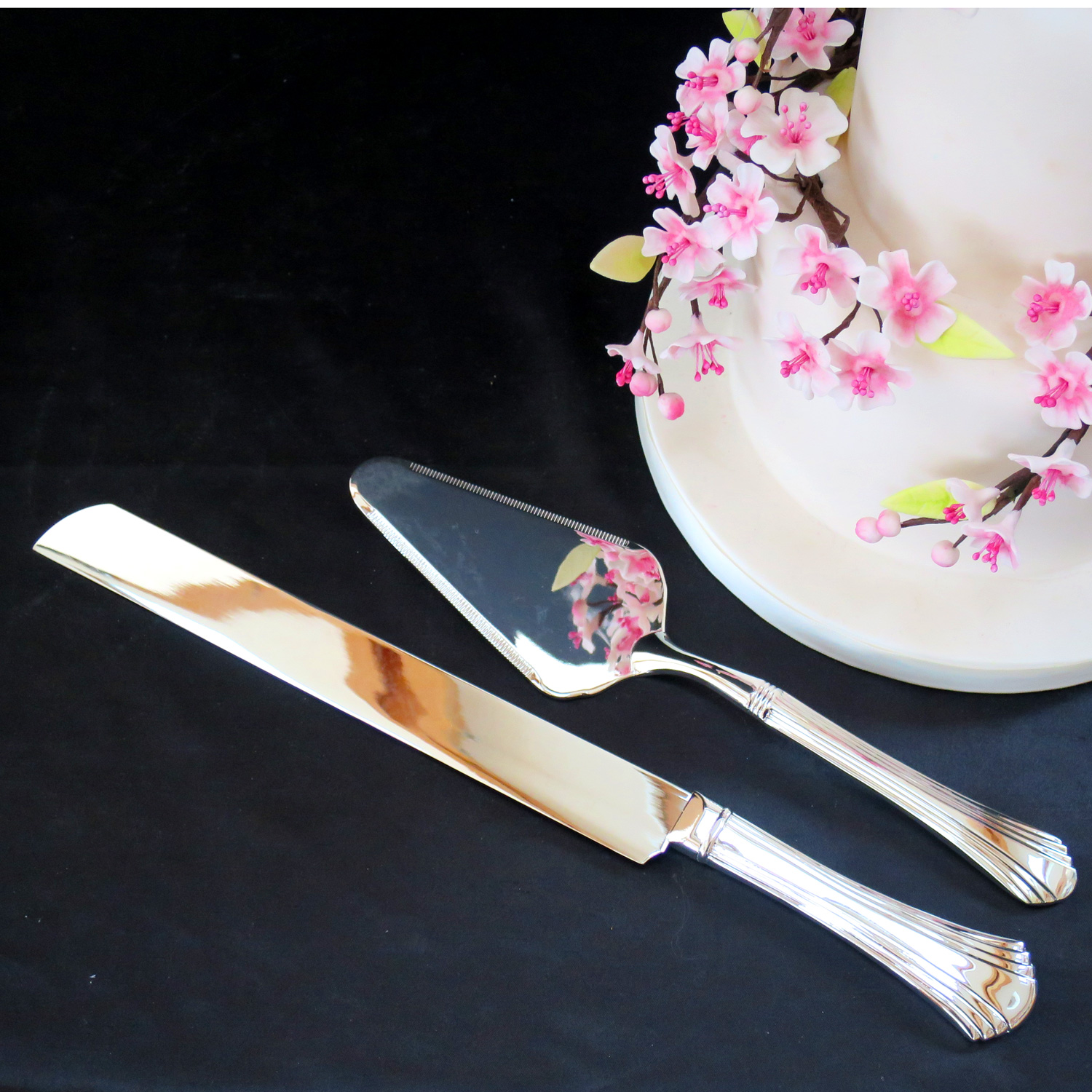 vintage cake knife and server cake knife and server set