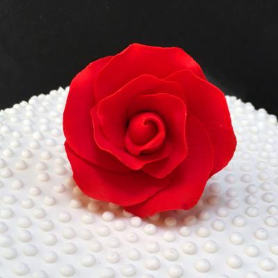 Small Red Sugar Rose Head