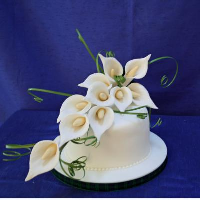 Ivory Calla Lily Spray Large Sugar Calla Lily Spray Cake Decorations