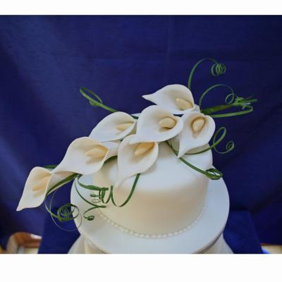 Medium Calla Lily Spray Cake Topper