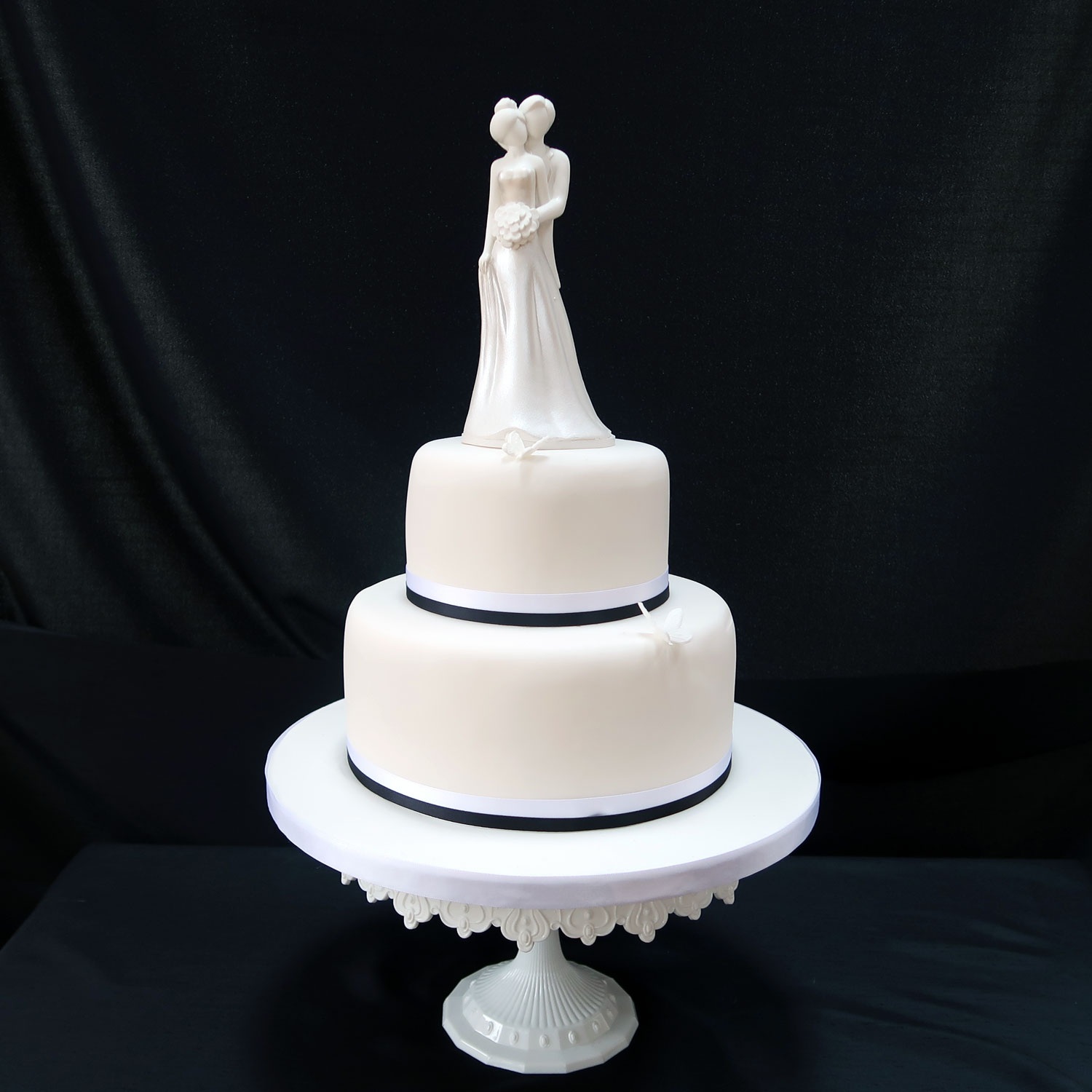 Sugarcraft Bride and Groom Cake Topper
