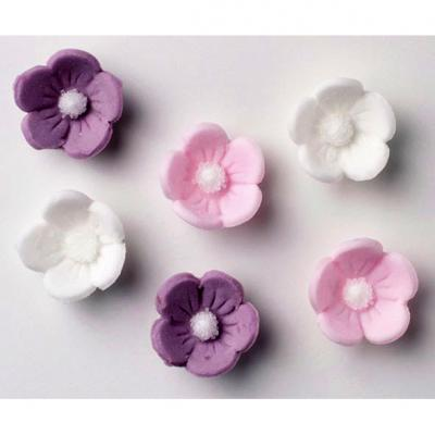 Sugar Blossoms in White, Pink and Lilac