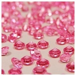 Baby Pink Table Crystals
