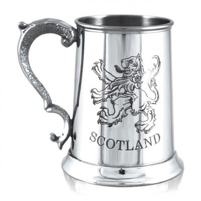 Tankard Engraved with Scottish Lion
